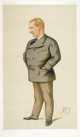 cap: This caricature of Webb, by Carlo Pelligrini ran in Vanity Fair after he swam the Channel. Legend has it the character of Inspector Clouseau was based on Webb. (Image: WikiCommons/Public Domain)