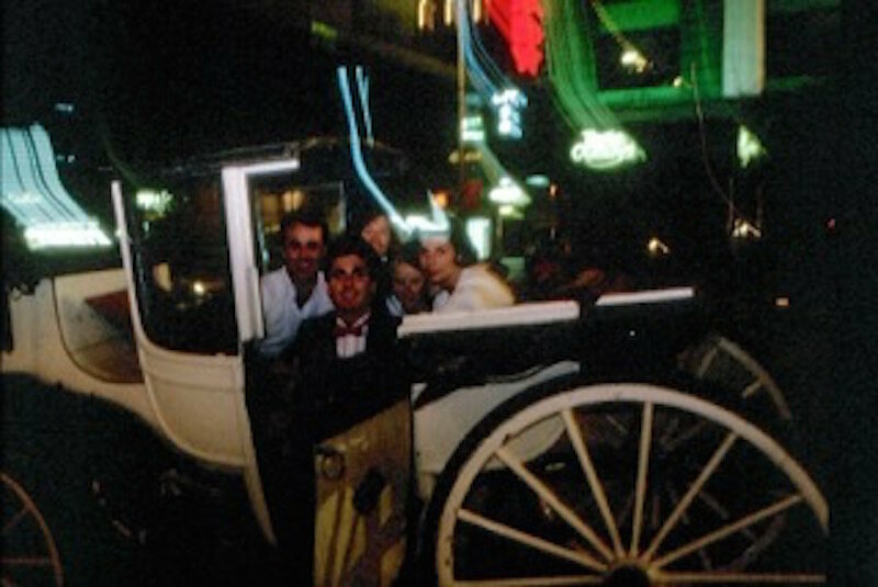 Bruce in his carriage in the 1980s