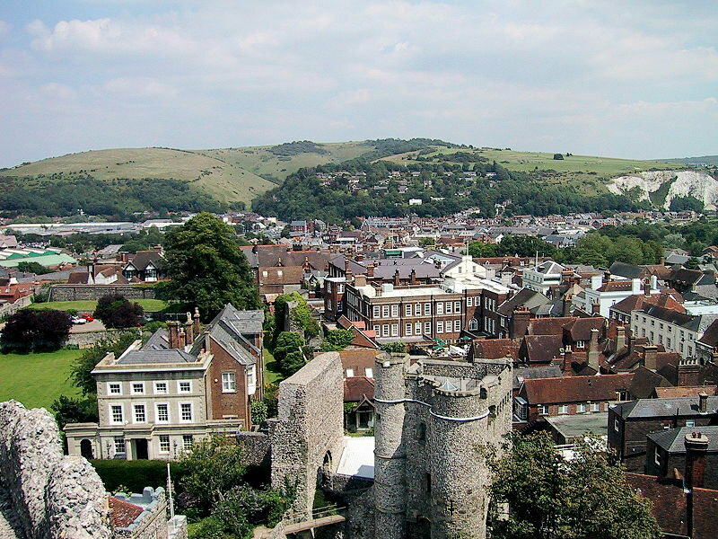 Lewes viewed from Lewes Castle,