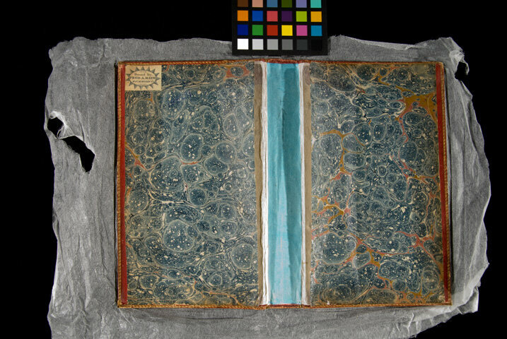 The cover of Jefferson's Bible, itself now dismembered for conservation purposes.