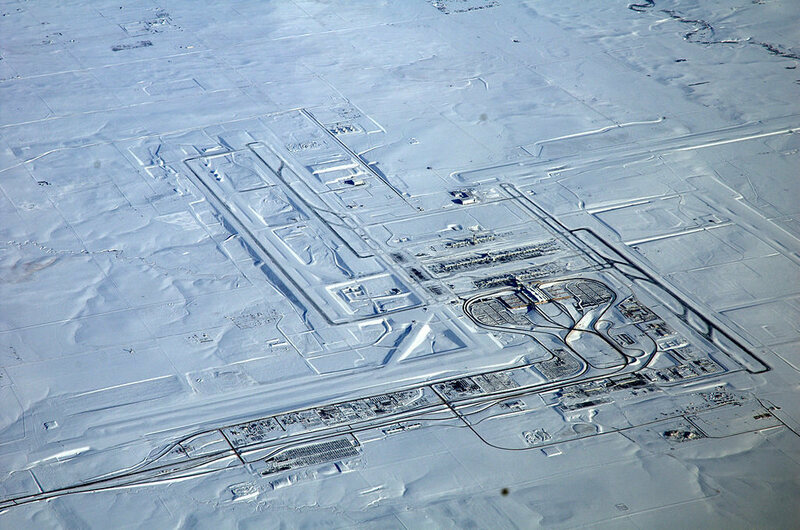 Denver Airport Under Snow