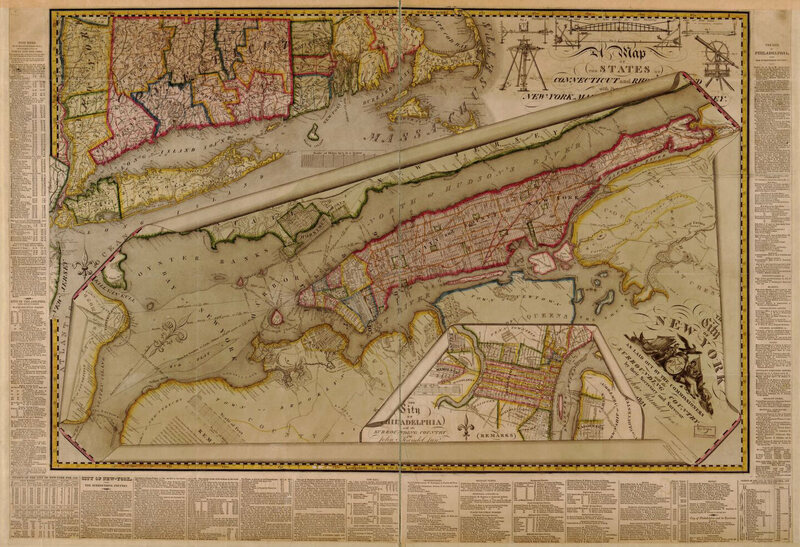 A street planning map from 1821 by John Randel