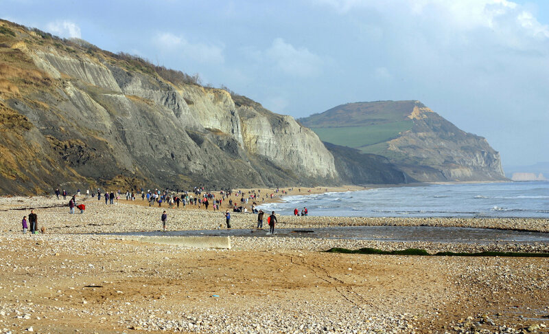 The Jurassic coast at Charmouth, Dorset, where the Annings made some of their finds