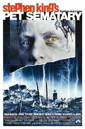 Stephen King's Pet Sematary, about a car buried on a Indian Burial Ground