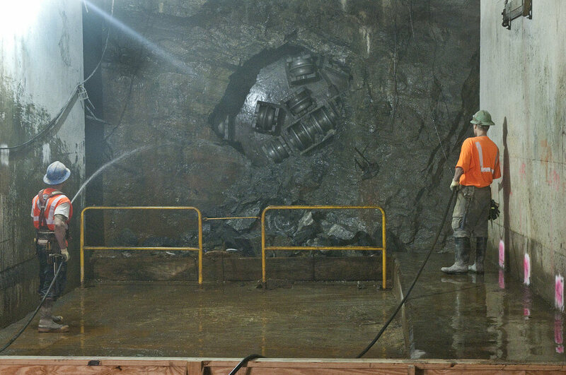 Workers completed tunneling for the first phase of the Second Avenue Subway in 2011