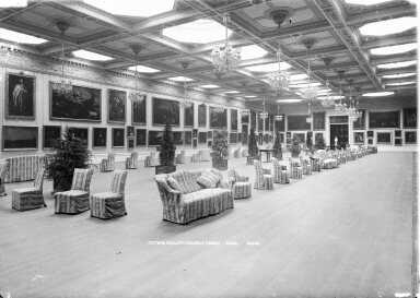 """Inside the ballroom, later transformed into a """"picture gallery."""""""