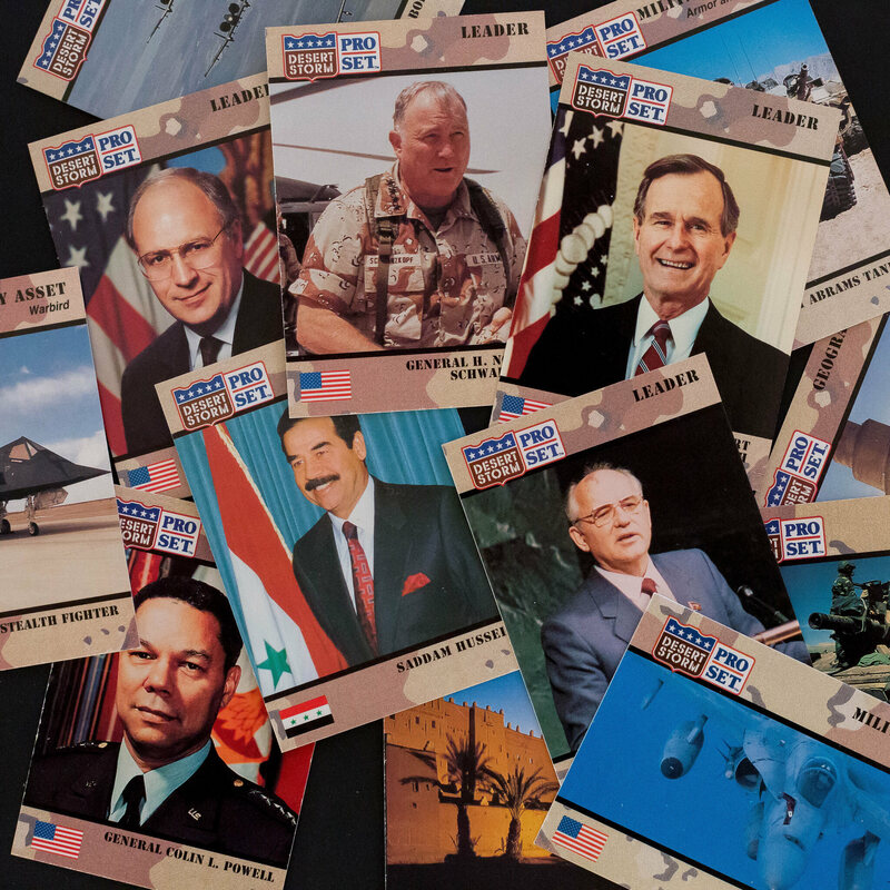 Desert Storm cards featuring a young Dick Cheney.