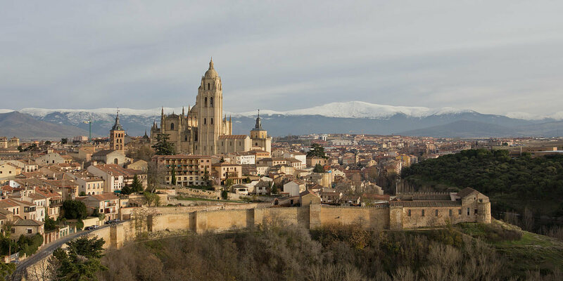 Segovia, Spain, where the St. Bernard de Clairvaux was originally located. The city walls date from the 8th century.