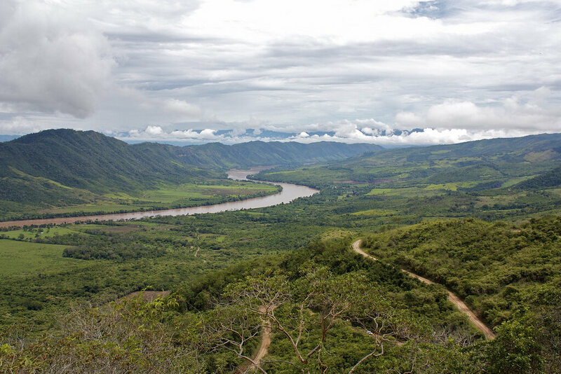 A view of an Amazon tributary in Peru.