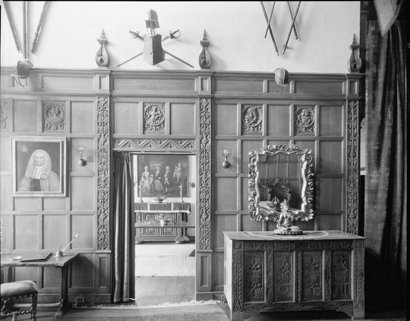 The interior of Virginia House, 1929.