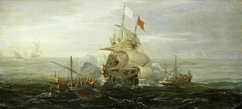 A French Ship and Barbary Pirates, c. 1615