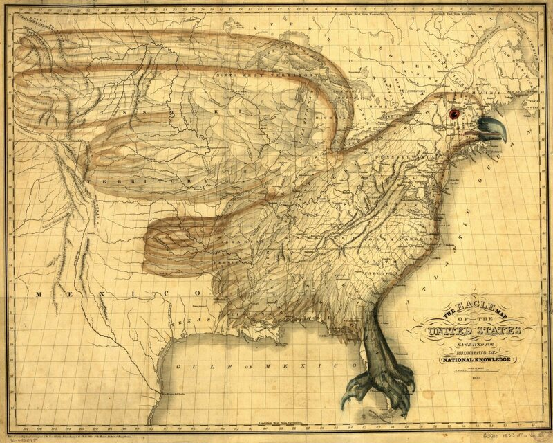 The Eagle Map of the United States. (Image: Library of Congress, Geography and Map Division)