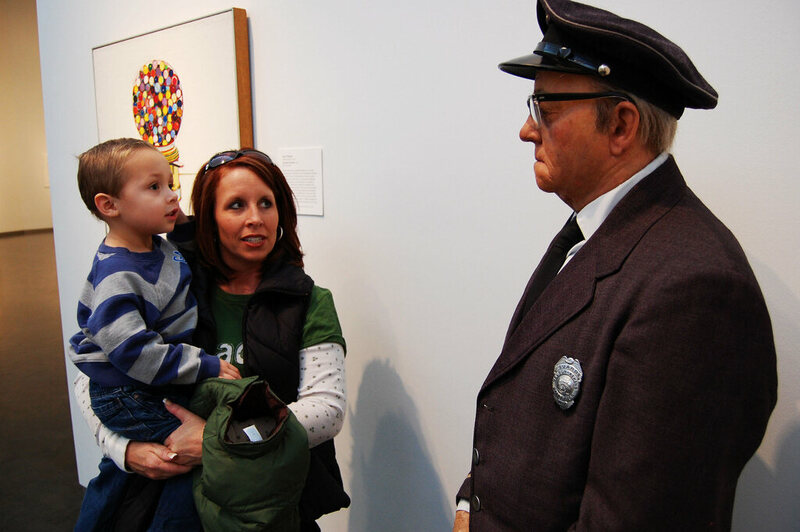 A wax figure of a security guard at the Nelson-Atkins Museum of Art in Kansas City.