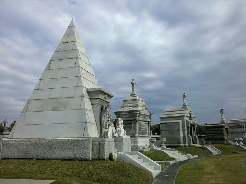 The ornate crypts of New Orleans's Metairie Cemetery.