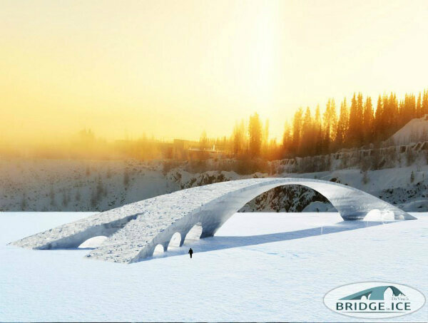 A rendering of the Bridge in Ice, coming soon to Finland.