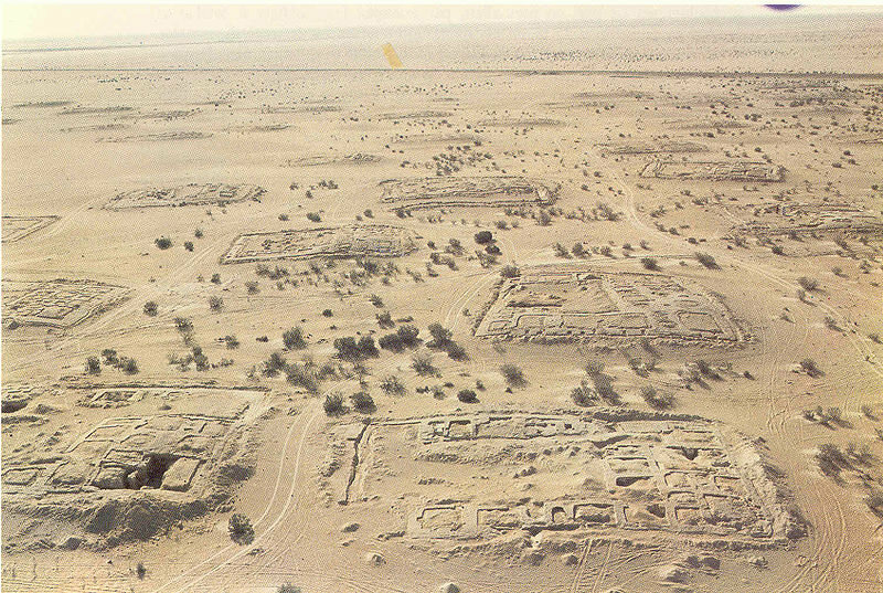 "Kellia (""the Cells""), referred to as ""the innermost desert"", was a 4th-century Egyptian Christian monastic community spread out over many square kilometers in the Nitrian Desert."