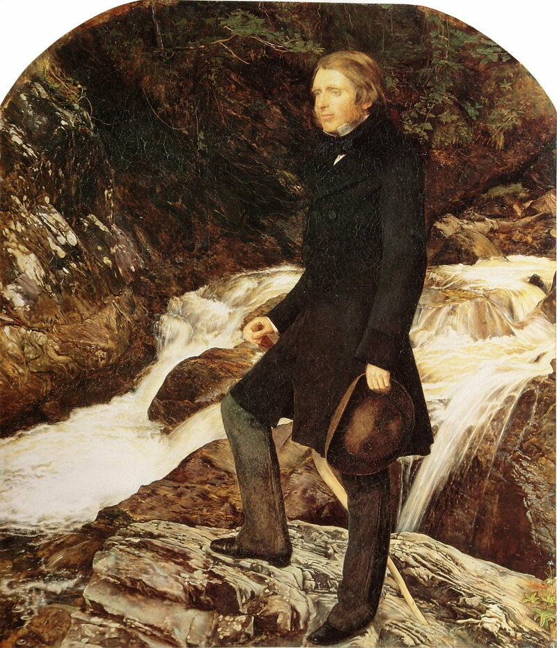 John Ruskin, painted in his preferred style by John Everett Millais in 1853 or 1854.