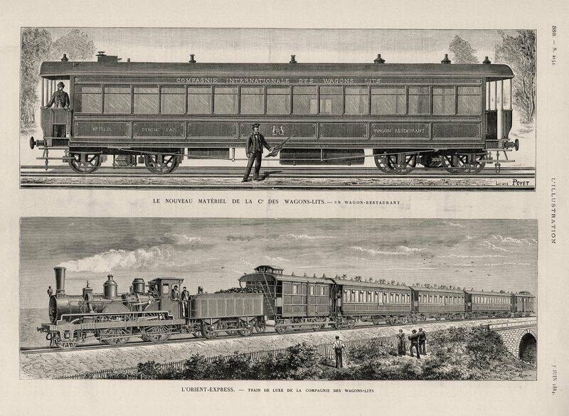 An Illustrated History Of The Orient Express Atlas Obscura - Epoc maps illistrating us history