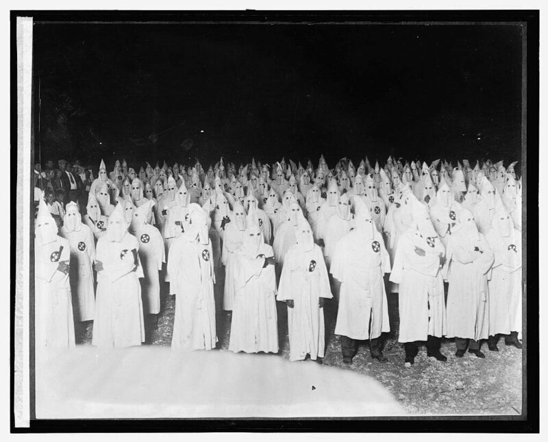 A Ku Klux Klan rally near Washington, D.C. in 1921.