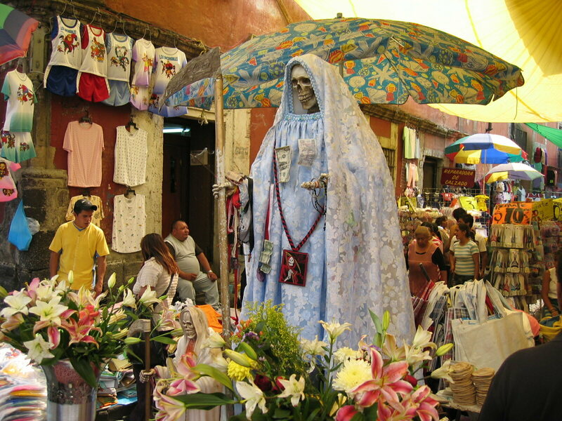 La Santa Muerte, the Skeleton Saint