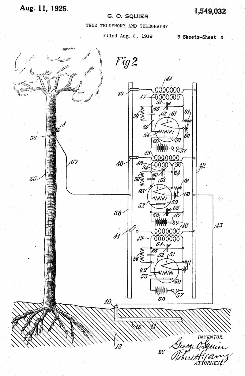 An illustration from Squier's 1919 Floraphone patent.