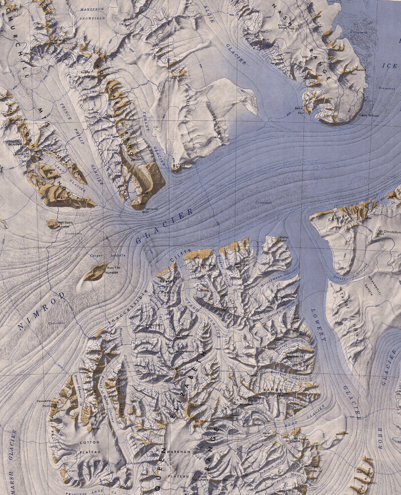 81.3500° S, 163.0000° E, United States Geological Survey (USGS), Nimrod Glacier, Topographic Reconnaissance Maps of Antarctica, 1963.
