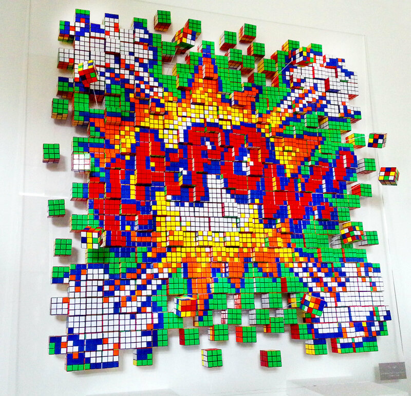 these artists twist thousands of rubik 39 s cubes a day to. Black Bedroom Furniture Sets. Home Design Ideas