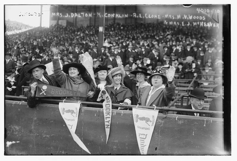 Fans at the World Series in 1916. A quarter century earlier, Ella Black opened doors for baseball-loving women everywhere.