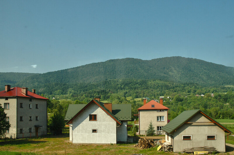 A view of the modern day Polish Carpathian Mountains