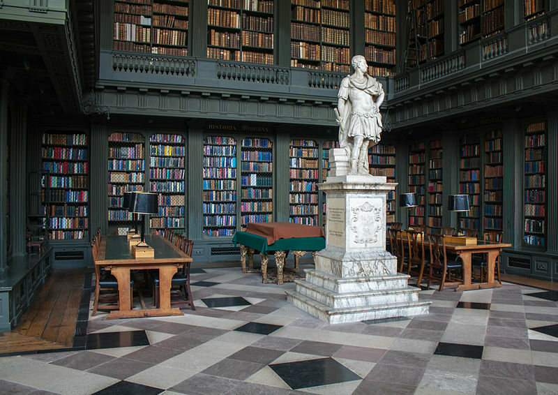 Codrington inside his library