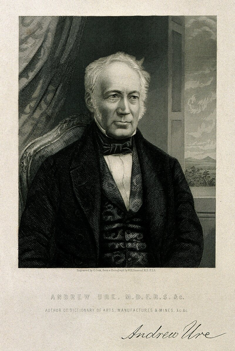 An engraving of Andrew Ure.