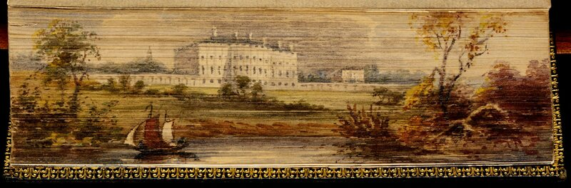 The White House painted on the edge of A History of New York (1821)
