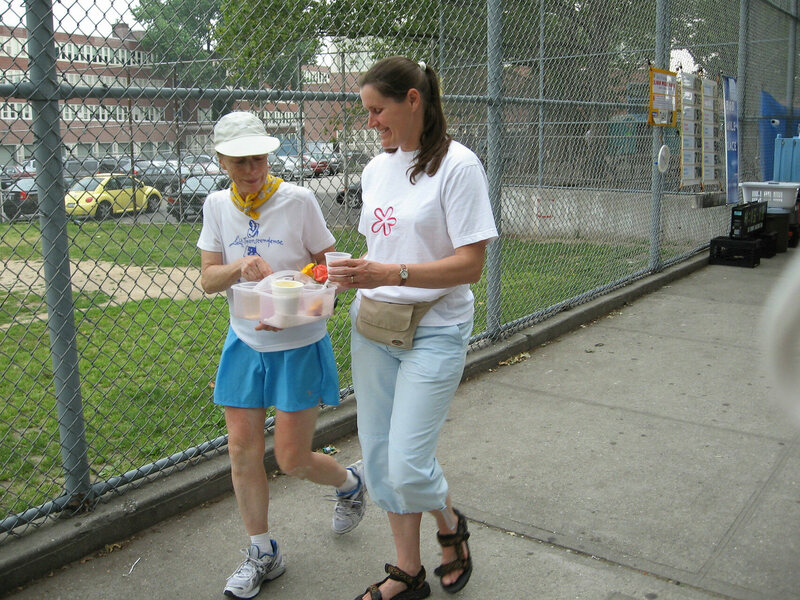 Beckjord replenishes her nutrients during day 12 of the 2006 race.