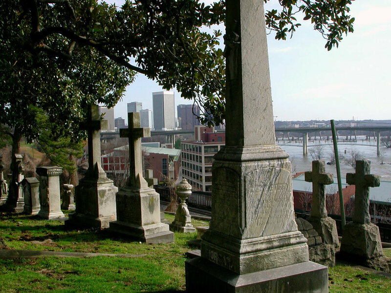 Hollywood Cemetery overlooking the river