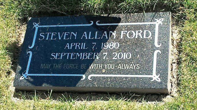 Head Stone of the First Ordained Jedi in Utah