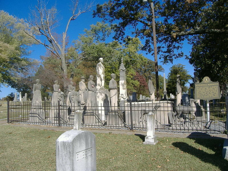 Wooldridge Monuments and their thousand-yard stare