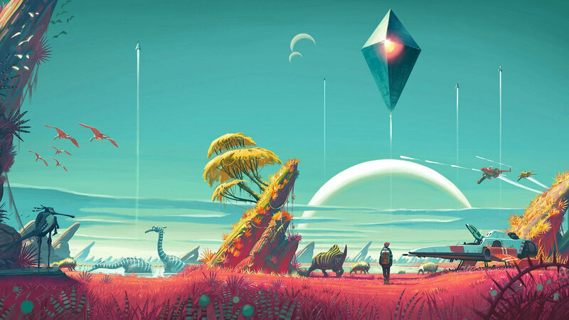 Each planet in No Man's Sky has its own native flora and fauna.