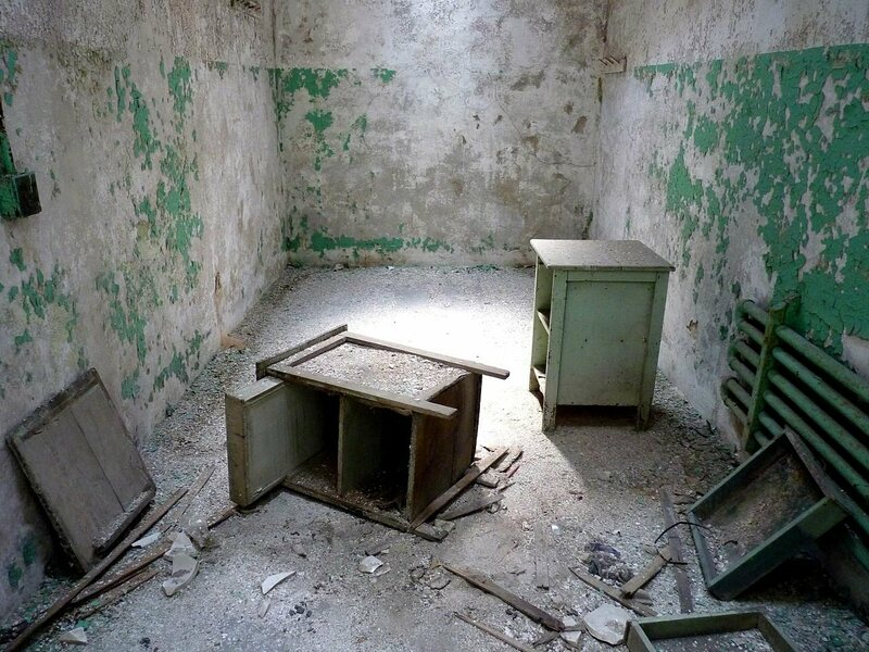 A cell at the Eastern State Penitentiary