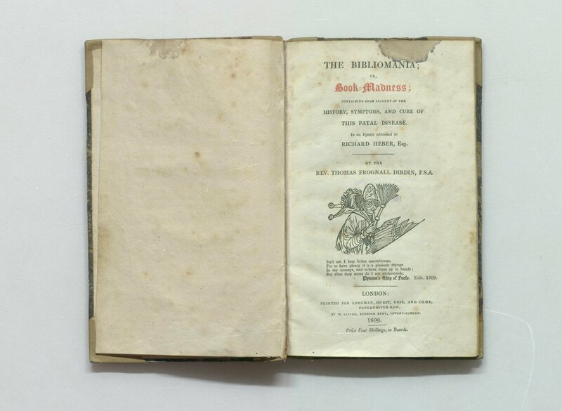 "While not a real psychological illness, book collectors and bibliophiles described ""bibliomania"" as a medical condition."