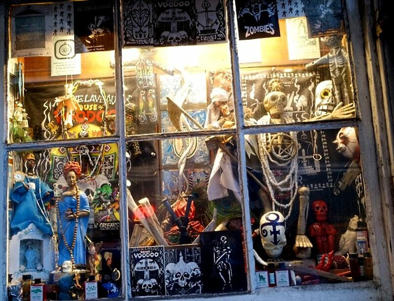 A shop window at Marie Laveau's House of Voodoo.