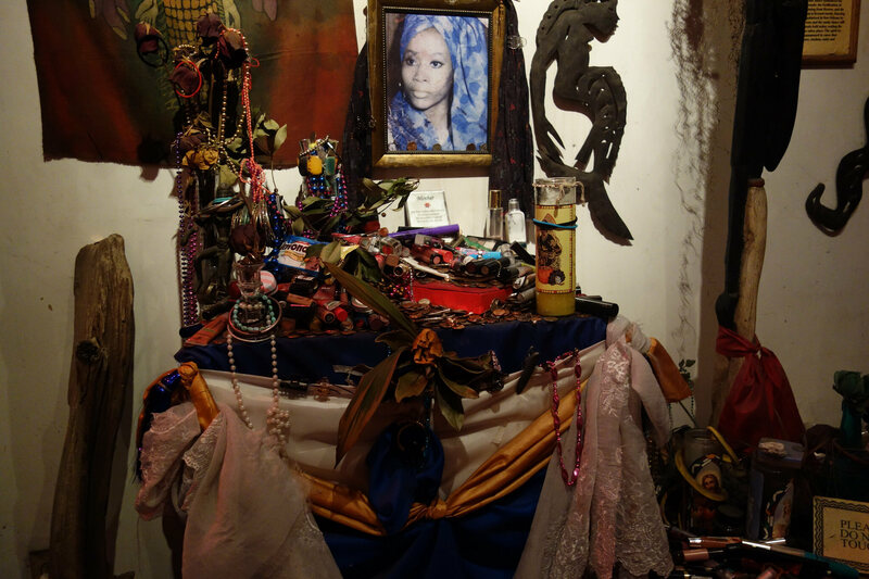 An altar at the Voodoo Museum.