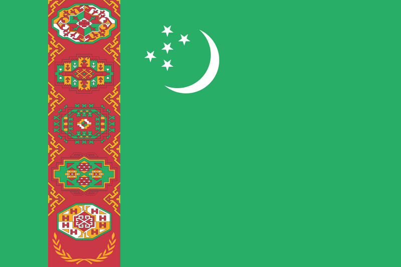 Turkmenistan has the world's most complicated national flag. It's... detailed.