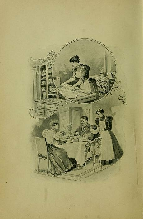 <em>The century book and home physician</em>, an illustrated cook book from 1897 that contains medical receipts.