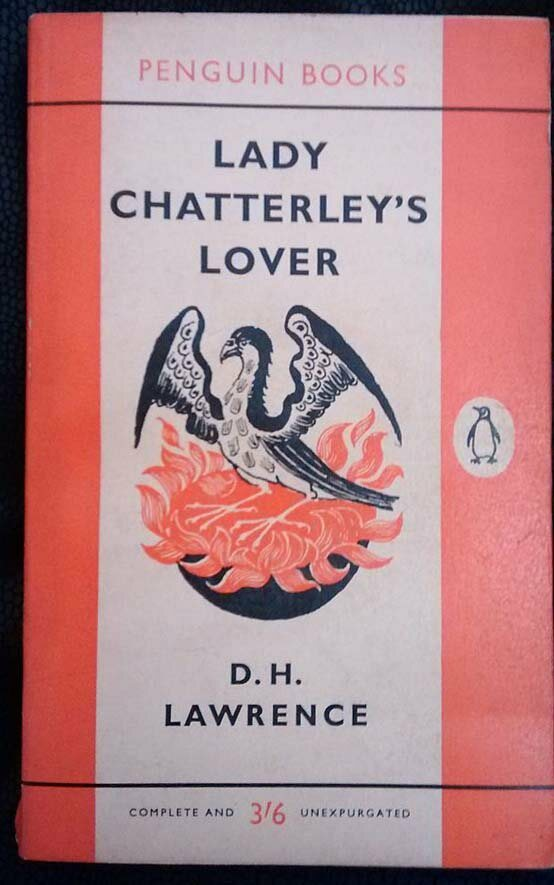 A first edition of <em>Lady Chatterley's Lover</em>, a book that was also subject to a censorship trial.