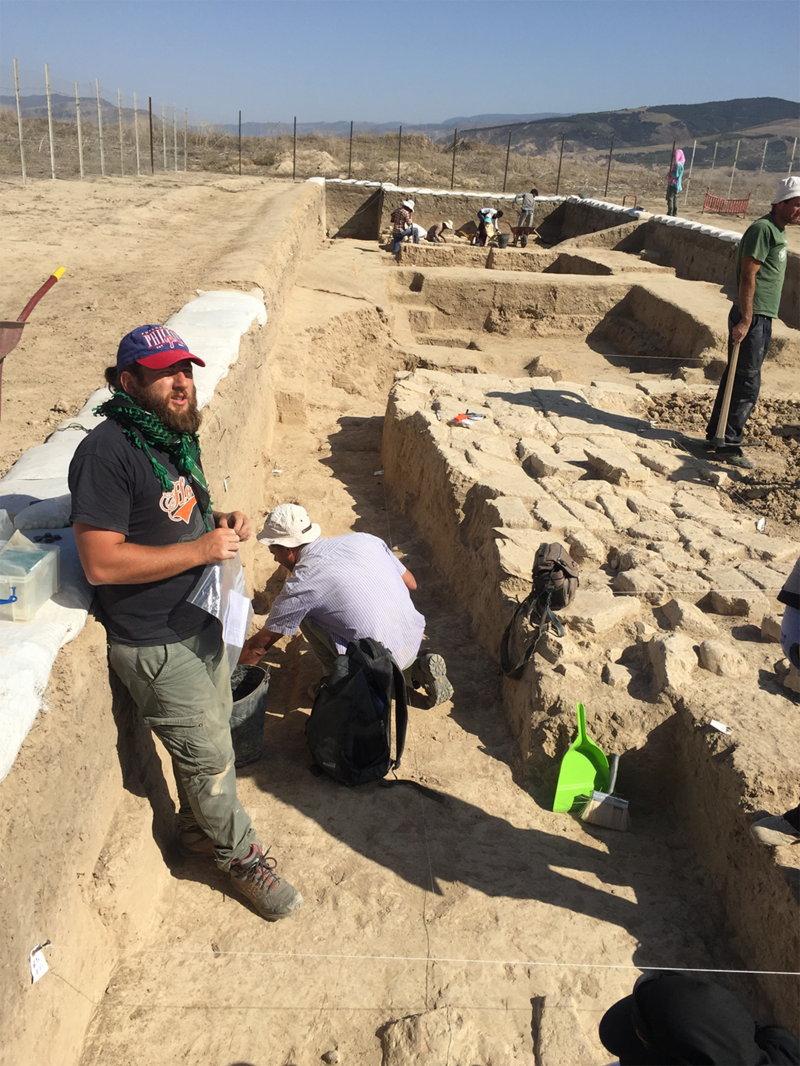 Excavations underway on the hilltop fort overlooking Gokche. Such a fort would have contained more than 500 soldiers.