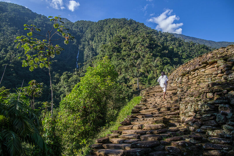 The Lost City is built upon incredibly steep terrain, with incredible views of the surrounding mountains.