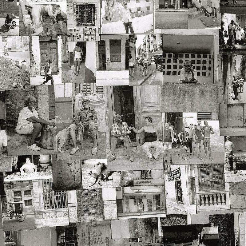 Nishino includes intimate scenes of local life, like these photographs in the Havana map.