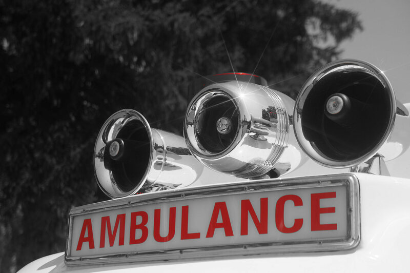 The ambulance siren: a classic attention-grabber.