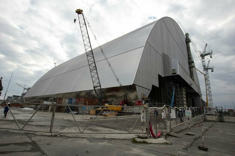 The New Safe Confinement dome, almost ready in October 2016.