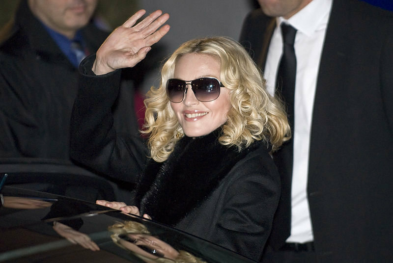 Madonna, who has been known to adopt a British accent.